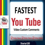 SuperFast 45+ You Tube Non drop Custom Comments Different account must be give