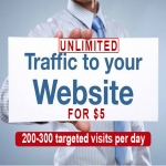 For Just 5 dollar you will get Unlimited USA traffic for 1 Month