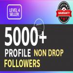 Add 5000+ High Quality Fast Profile Followers PERMANENT Guaranteed