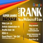 Jumbo PACKAGE - Manual Job - Latest Google Algorithm Breaker - Improve Your Ranking Towards Page 1