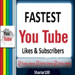 300 You+tube LLikes & 200 You+Tube Subs+Cribes Give you super fast within 2-7 Hours delivery