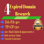 Do High metrics Expired Domain research with High DA+PA and TF+CF