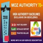 Special Offer DA 70+ Authority Manual Backlinks