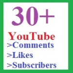 30+ YouTube custom coments And 30+ YouTube Like-s & 30+ subscriber-s supper fast delivery