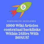 1000 Wiki Articles contextual backlinks Within 24Hrs With BONUS