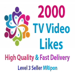 Get Instant 2000 High Quality Social TV Video Likes