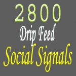 naturally add 2800 drip feed Top social signals