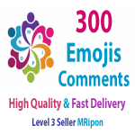 Start Instant 300 High Quality Photo Post Emoji Comments