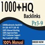 1000 Unique Domain Bookmarks Backlinks On Da, Pa, Tf100