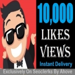 Start Insatnt 10000 Views Or Likes In Your Social Media Posts